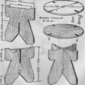 Легкий переносний розбірний столик