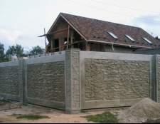 Декоративний паркан з бетону