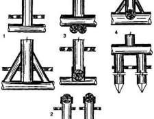 Фундаменти стовпчасті: дерев`яні (стільці) і кам`яні