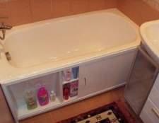 Екрани під ванну: розміри, класифікація і установка