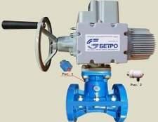 Принцип управління і підключення засувки з електроприводом