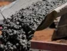 Пропорції бетону для заливки фундаменту