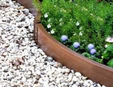Садове огорожу для клумб із пластику
