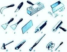 Способи та інструменти, що застосовуються для укладання лінолеуму