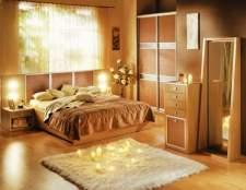 Варіанти обробки спальні: стильне оформлення стін і стель